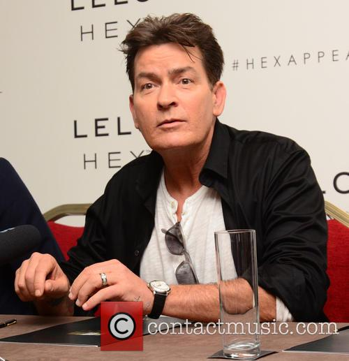 Charlie Sheen attends a press conference for LELO...