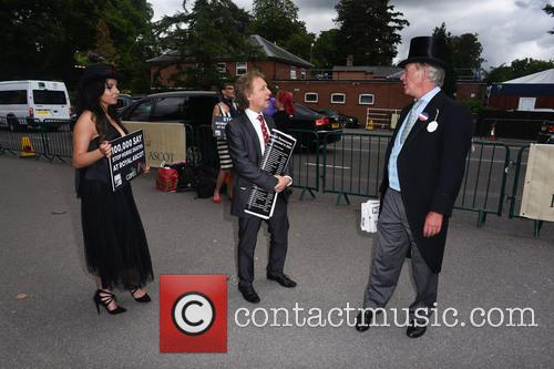 Protest At Ladies Day Ascot