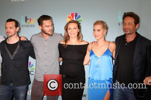 Aquarius Cast, Gethin Anthony, Grey Damon, Michaela Mcmanus, Claire Holt and David Duchovny 2