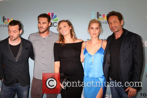 Aquarius Cast, Gethin Anthony, Grey Damon, Michaela Mcmanus, Claire Holt and David Duchovny 3