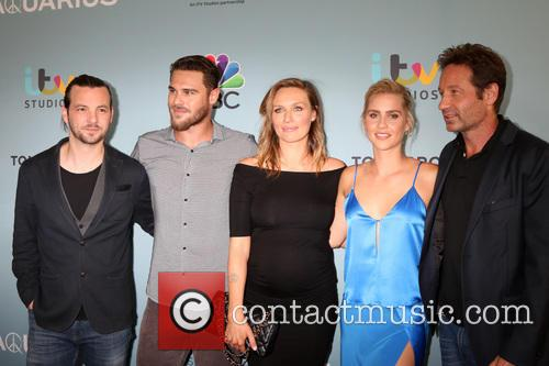 Aquarius Cast, Gethin Anthony, Grey Damon, Michaela Mcmanus, Claire Holt and David Duchovny 5
