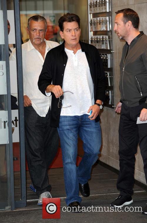 Charlie Sheen at BBC Radio 1