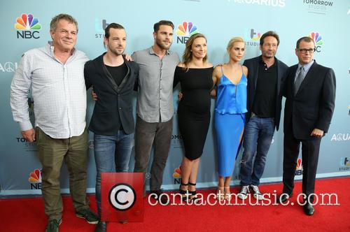Marty Adelstein, Gethin Anthony, Grey Damon, Michaela Mcmanus, Claire Holt, David Duchovny and John Mcnamera 2