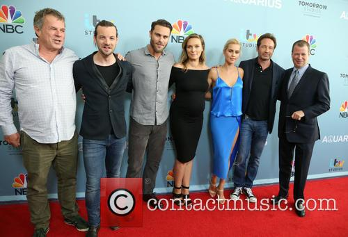 Marty Adelstein, Gethin Anthony, Grey Damon, Michaela Mcmanus, Claire Holt, David Duchovny and John Mcnamera 3