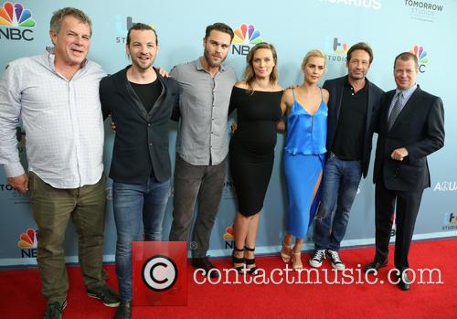 Marty Adelstein, Gethin Anthony, Grey Damon, Michaela Mcmanus, Claire Holt, David Duchovny and John Mcnamera 4