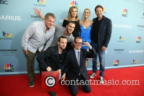 Marty Adelstein, Gethin Anthony, Grey Damon, Michaela Mcmanus, Claire Holt, David Duchovny and John Mcnamera 5