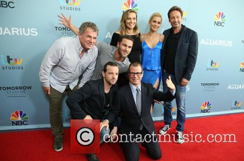 Marty Adelstein, Gethin Anthony, Grey Damon, Michaela Mcmanus, Claire Holt, David Duchovny and John Mcnamera 6