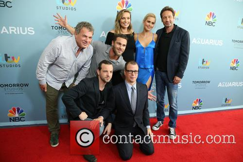 Marty Adelstein, Gethin Anthony, Grey Damon, Michaela Mcmanus, Claire Holt, David Duchovny and John Mcnamera 7