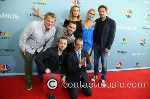 Marty Adelstein, Gethin Anthony, Grey Damon, Michaela Mcmanus, Claire Holt, David Duchovny and John Mcnamera 8
