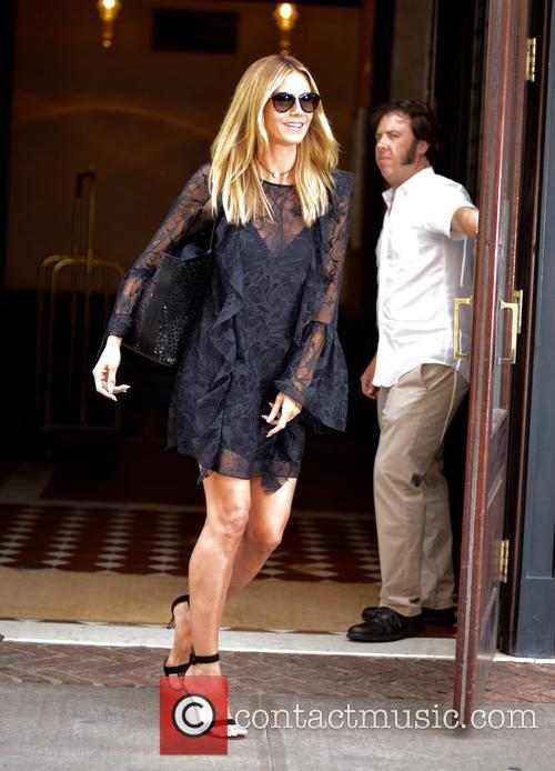 Heidi Klum leaving her hotel in Manhattan