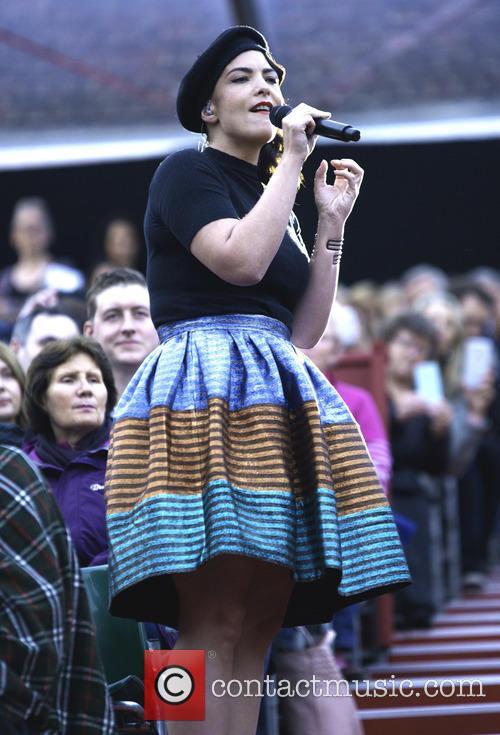 Caro Emerald performs at the Hampton Court Palace...