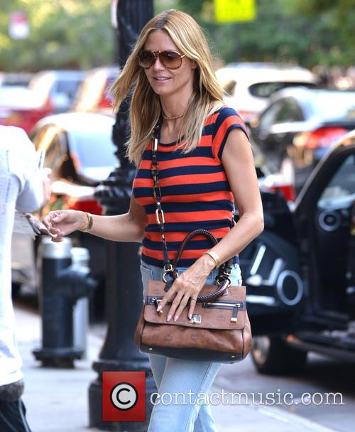 Heidi Klum arrives at a hotel in New...