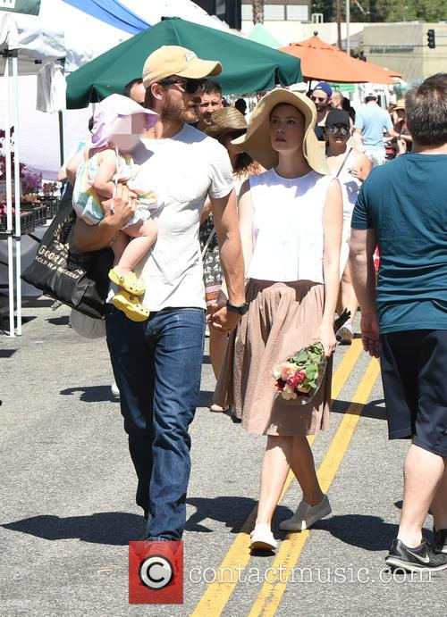 Summer Glau and family at the Farmers Market