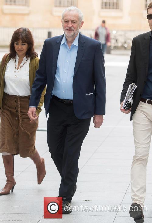 Jeremy Corbyn, Seumas Milne and Laura Alvarez 2