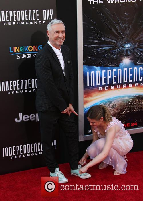 Roland Emmerich and Joey King 2