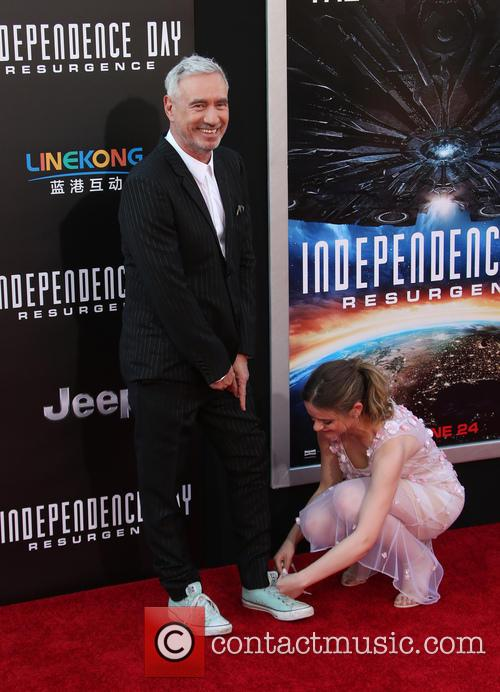 Roland Emmerich and Joey King 3
