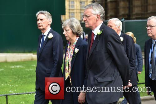 Philip Hammond, Theresa May and Hilary Benn 3
