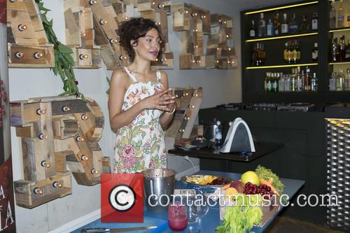 Patricia Perez attends a photocall for 'Jerte' cherry...