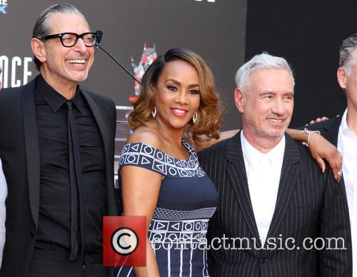 Jeff Goldblum, Vivica A. Fox and Roland Emmerich 1