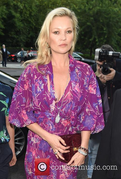 Kate Moss Arriving At V&A Museum