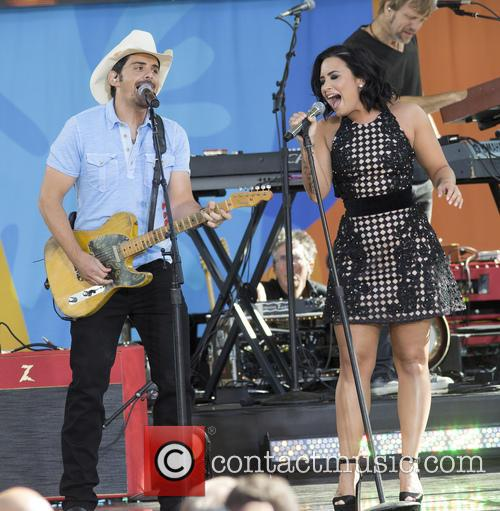 Brad Paisley and Demi Lovato