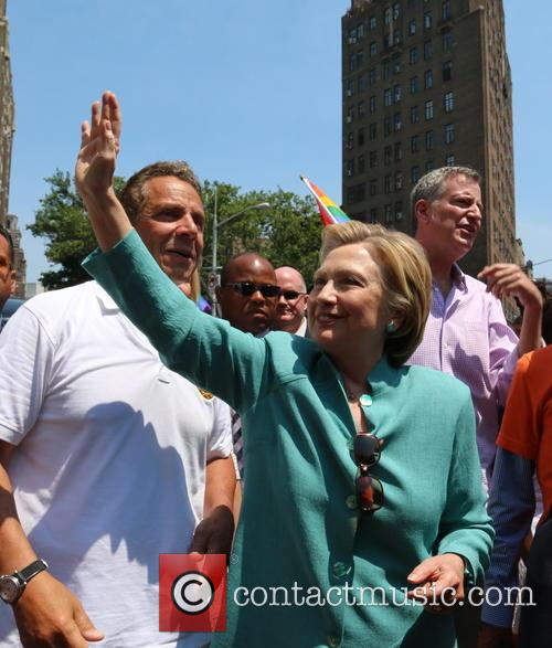 Andrew M. Cuomo and Hilary Clinton
