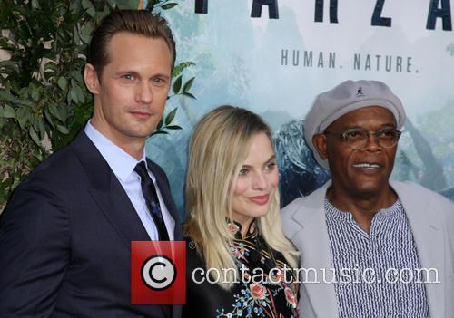 Alexander Skarsgard, Margot Robbie and Samuel L. Jackson 2