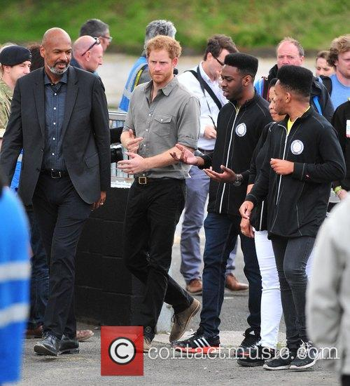 Prince Harry visit to Blair Project