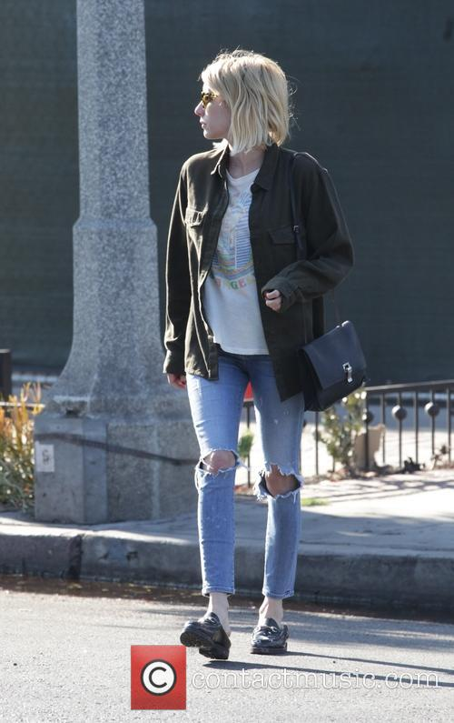 Emma Roberts out shopping at Melrose Place