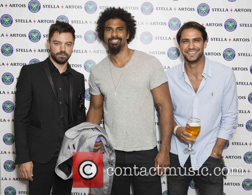 Dominic Cooper, David Haye and Luke Pasqualino 3