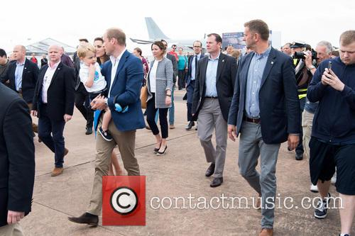 Prince George, Prince William and The Duke Of Cambridge 1
