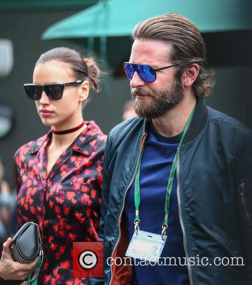 Irina Shayk and Bradley Cooper snapped at Wimbledon in 2016