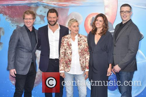 Dominic West, Ellen Degeneres and Guest 4