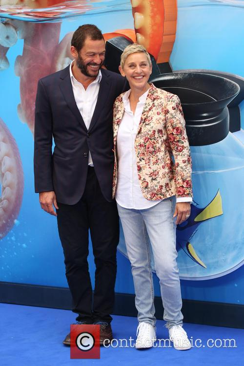 Dominic West and Ellen Degeneres 2