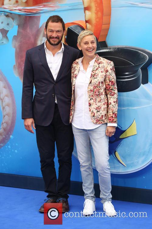 Dominic West and Ellen Degeneres 3