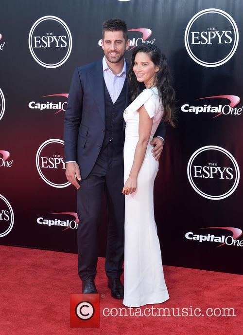 Aaron Ridgers and Olivia Munn 1