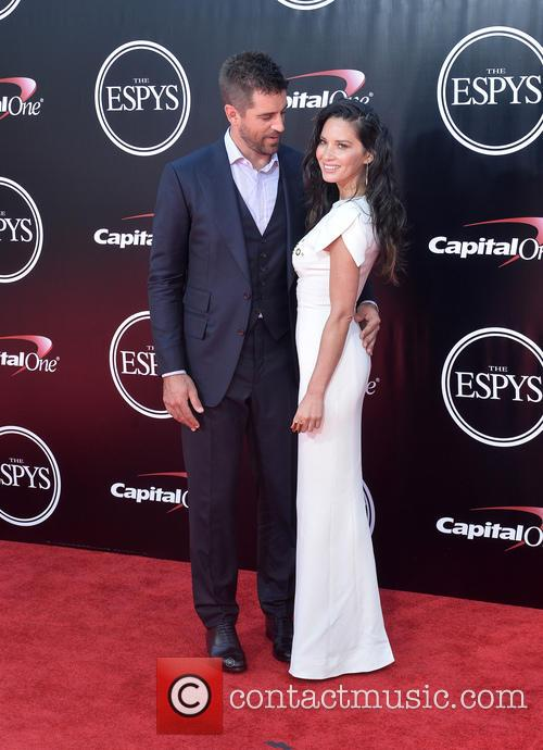 Aaron Ridgers and Olivia Munn 2
