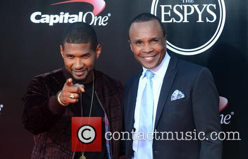 Usher and Sugar Ray Leonard 1