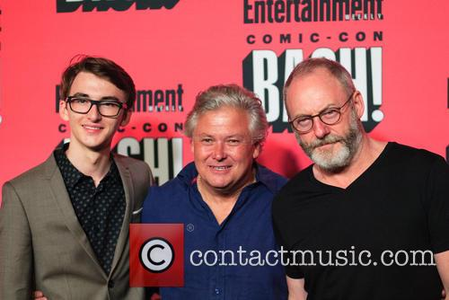 Isaac Hempstead Wright, Conleth Hill and Liam Cunningham 1