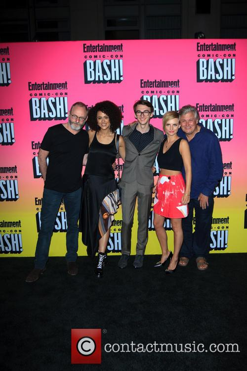 Liam Cunningham, Nathalie Emmanuel, Isaac Hempstead Wright, Faye Marsay and Conleth Hill 1