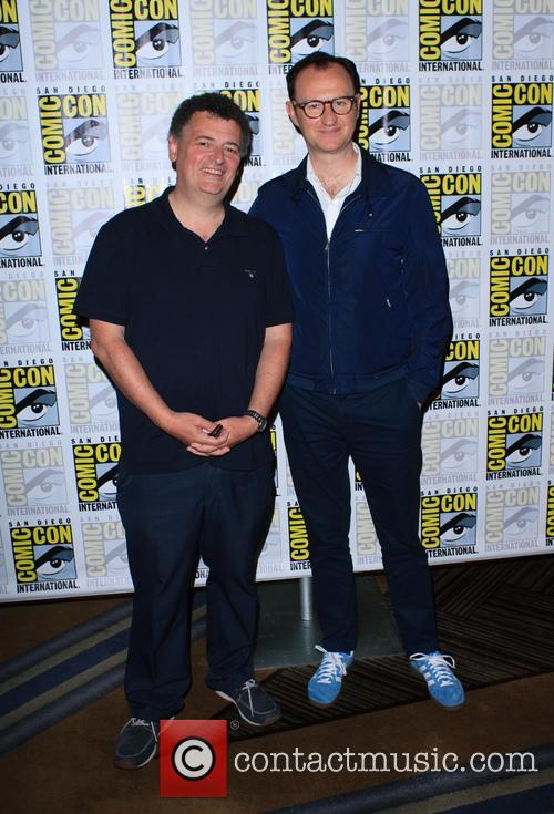 Steven Moffat and Mark Gatiss at ComicCon