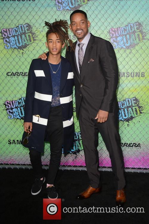 Will Smith and Jaden Smith at the 'Suicide Squad' premiere