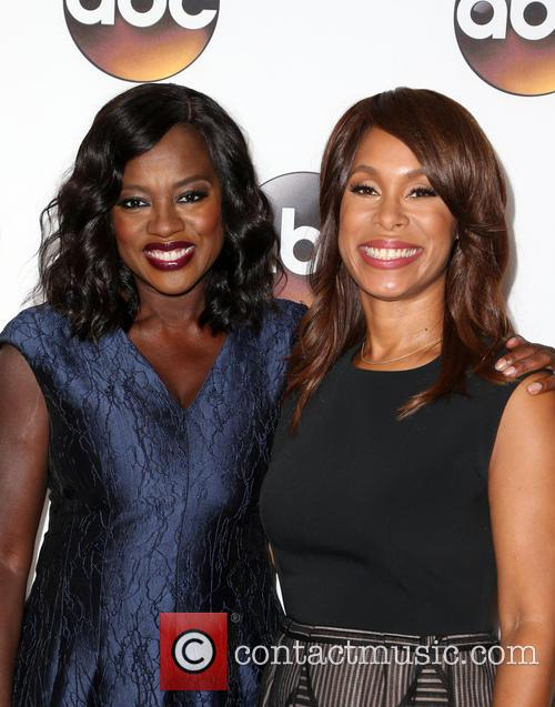 'How To Get Away With Murder' star Viola Davis with ABC President Channing Dungey