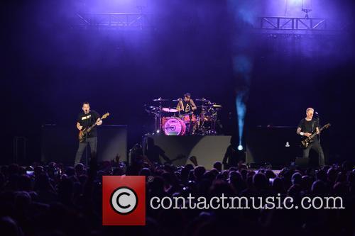 Matt Skiba, Travis Barker and Mark Hoppus 5