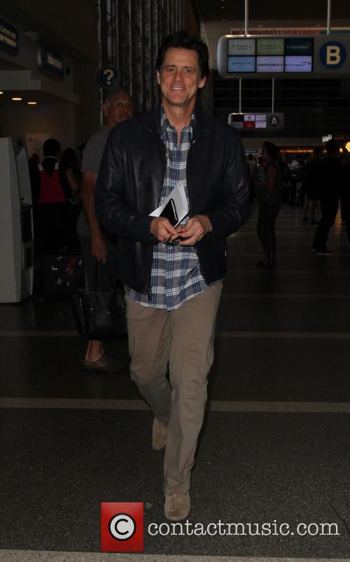 Jim Carrey arrives at LAX