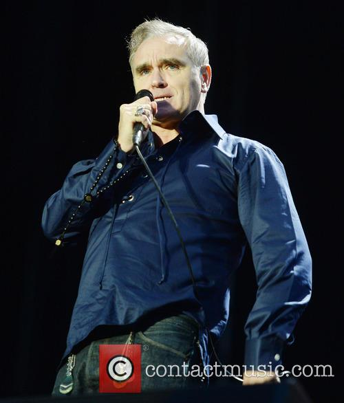 Morrissey performing live in 2016