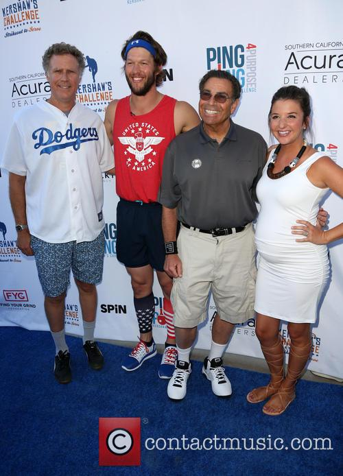Will Ferrell, Clayton Kershaw, Dennis Gilbert and Ellen Kershaw 3