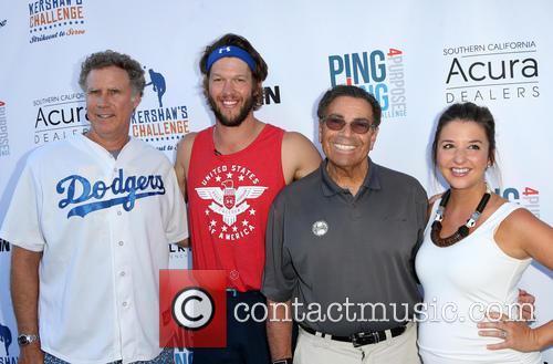 Will Ferrell, Clayton Kershaw, Dennis Gilbert and Ellen Kershaw 5