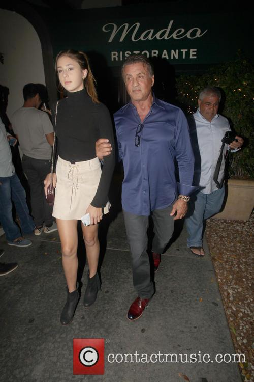 Sylvester Stallone and Scarlet Rose Stallone 4