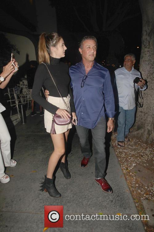 Sylvester Stallone and Scarlet Rose Stallone 6